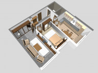 Example of arrangement of furniture for a 2-room apartment house #45